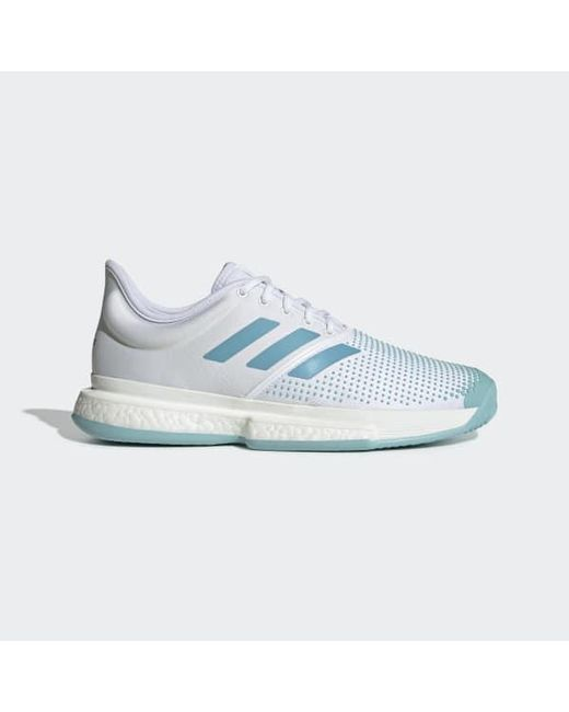 buy online 65d78 6f7ba Adidas - White Solecourt Boost Parley Shoes for Men - Lyst ...