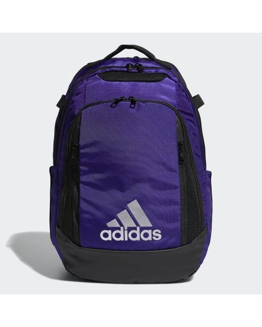 bf67a75886 Adidas - Purple 5-star Team Backpack for Men - Lyst ...