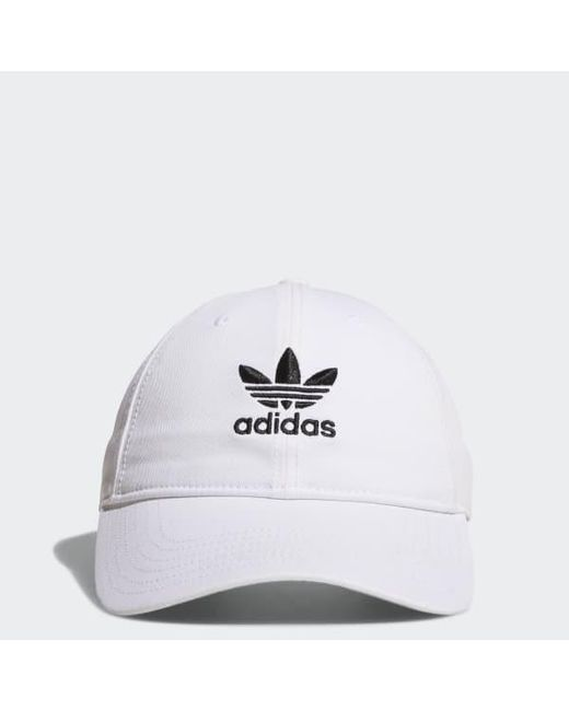 2b01bc97f8d ... discount code for adidas white originals relaxed strap back hat for men  lyst 845db 2c4ec