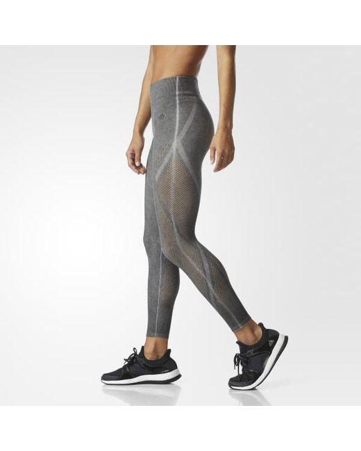 Adidas - Black Wanderflow Warp Knit Tights - Lyst