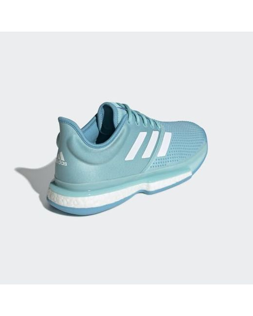detailed look a9d9d a9ddc ... Adidas - Blue Solecourt Boost Parley Shoes for Men - Lyst ...