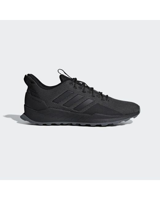 637c59872a290 Adidas - Black Questar Trail Shoes for Men - Lyst ...