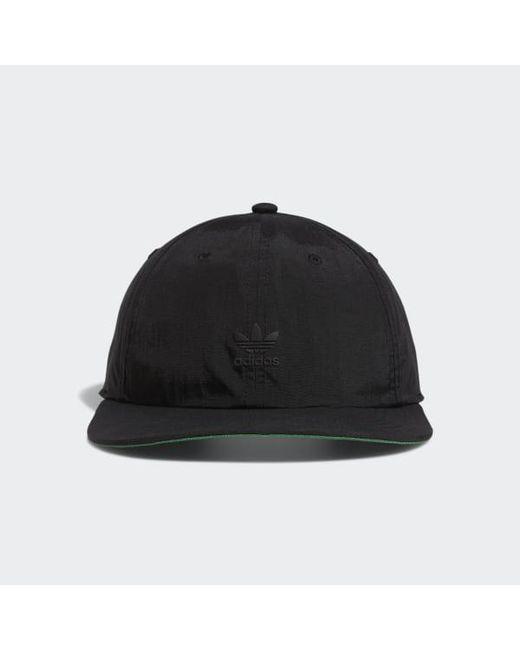 074d52b2 Adidas - Black Relaxed Repeat Flat Brim Hat for Men - Lyst ...