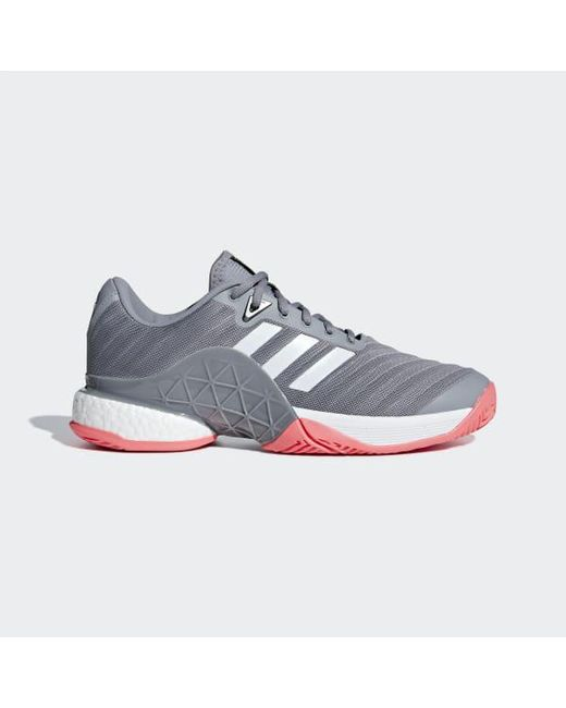best authentic fa21c cf009 Adidas - White Barricade 2018 Boost Shoes for Men - Lyst ...