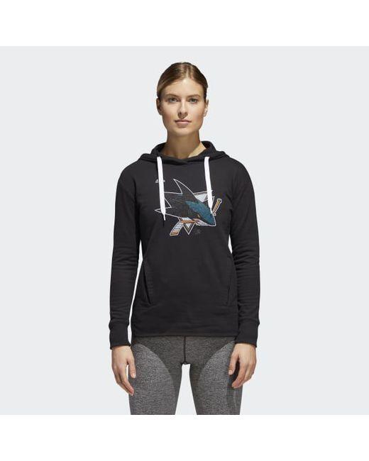 Adidas - Multicolor Sharks Logo Shine Hoodie - Lyst