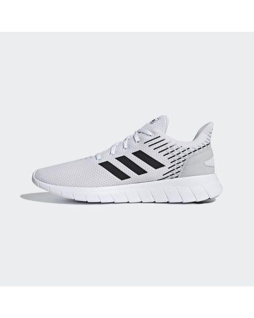 buy popular 5961e 7e99a ... Adidas - White Asweerun Shoes for Men - Lyst ...