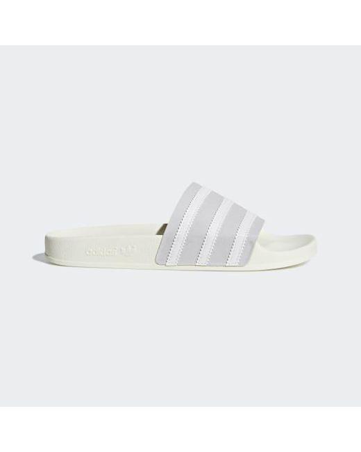 quality design 5915d b3cd7 Adidas - Gray Adilette Slides for Men - Lyst ...
