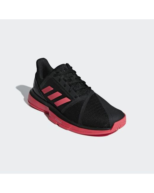 buy popular 44906 7c53a ... Adidas - Black Courtjam Bounce Shoes for Men - Lyst ...