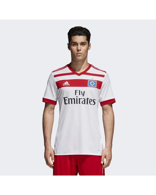 Adidas - White Hamburger Sv Home Jersey for Men - Lyst