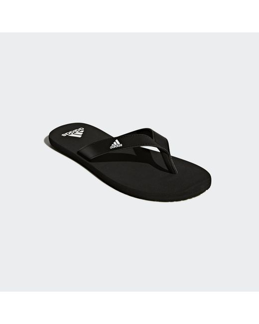 size 40 3da9c 015b3 ... Adidas - Black Eezay Essence Thong Sandals for Men - Lyst ...