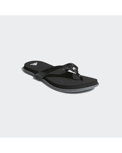 73dd51cee Lyst - adidas Cloudfoam One Thong Sandals in Black - Save 18%