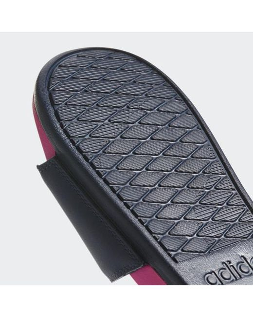 71df1ba6c89a ... Adidas - Pink Adilette Cloudfoam Plus Logo Slides for Men - Lyst