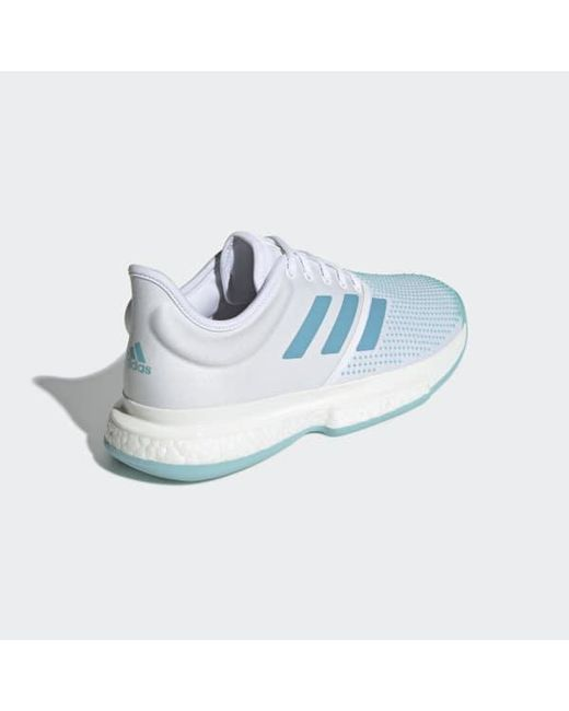 reputable site 4fbf4 19811 ... Adidas - White Solecourt Boost Parley Shoes for Men - Lyst ...