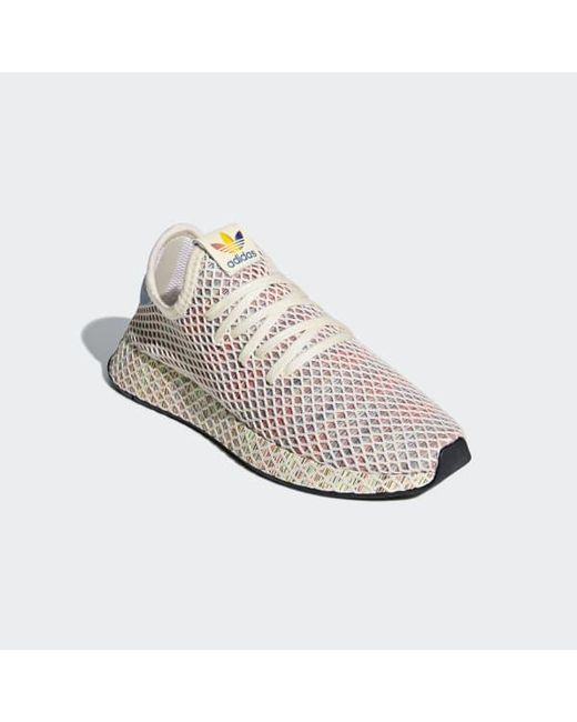 new concept 7055e 0950b ... Adidas - White Deerupt Pride Shoes for Men - Lyst ...