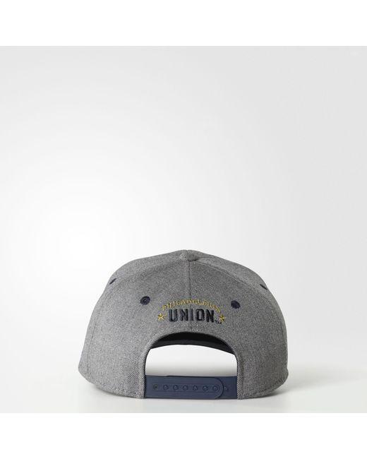 brand new 47cae c8e46 ... sale adidas gray philadelphia union structured hat for men lyst 2750d  6a3e3