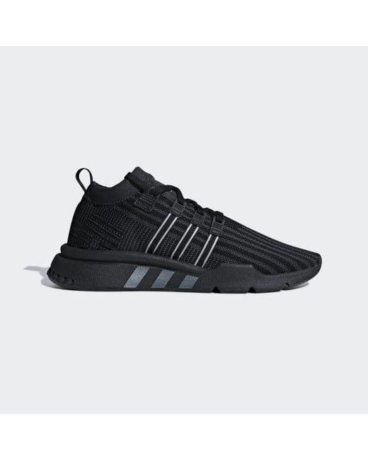 best service be62c c6e6f ... Adidas - Black Eqt Support Mid Adv Primeknit Shoes - Lyst ... really  comfortable ...