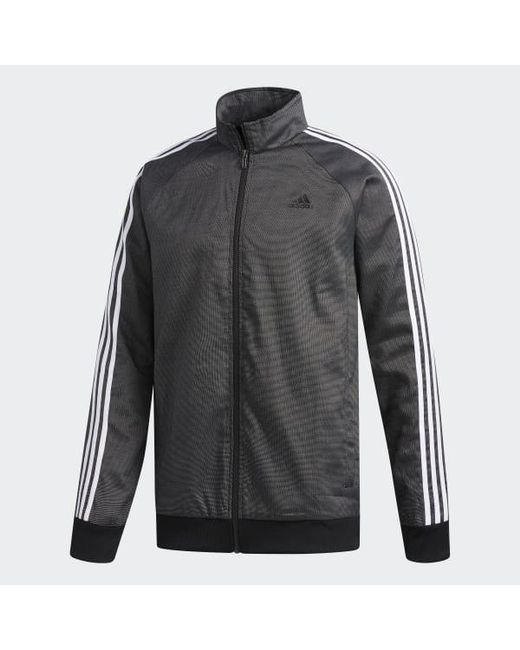 18c75709b91 ... Adidas - Black Essentials 3-stripes Tricot Jacket for Men - Lyst ...