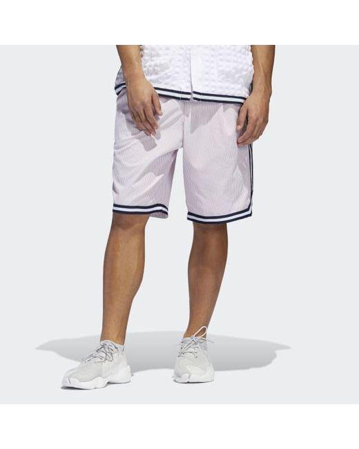 80a5659702 Adidas - Pink Seersucker Shorts for Men - Lyst ...