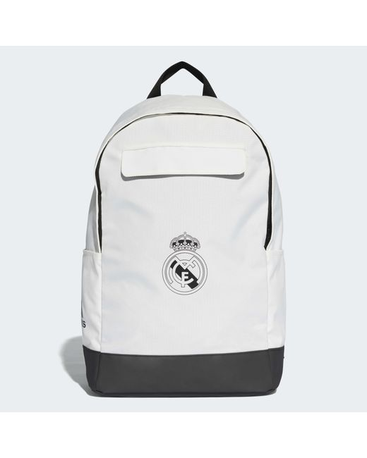 4d79c82997 Lyst - Sac à dos Real Madrid adidas en coloris Blanc