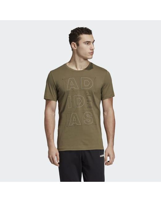 new arrival f204b 651ce Adidas - Brown Id Lineage Tee for Men - Lyst ...