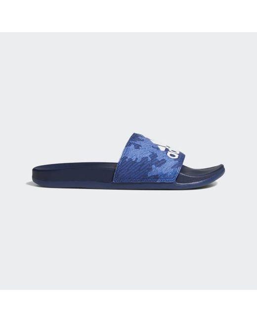 b04fec36832c Adidas - Blue Adilette Comfort Slides for Men - Lyst ...