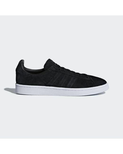 buy popular 2a5b9 b9f22 Adidas - Black Campus Stitch And Turn Shoes for Men - Lyst ...