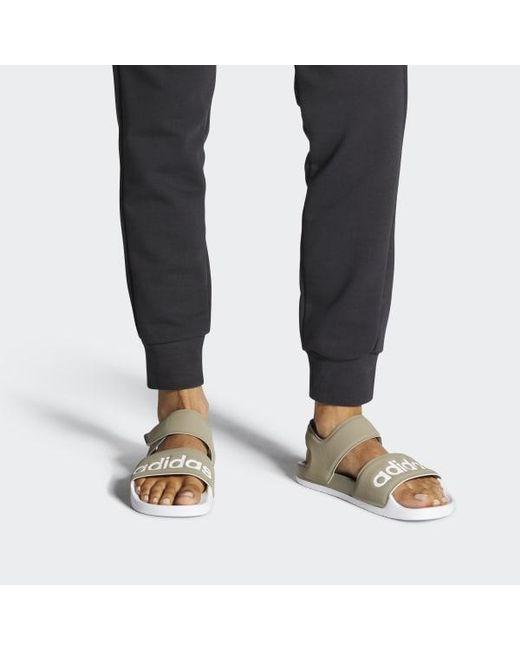 cb4ee4b6ef887 ... Adidas - Gray Adilette Sandals for Men - Lyst ...