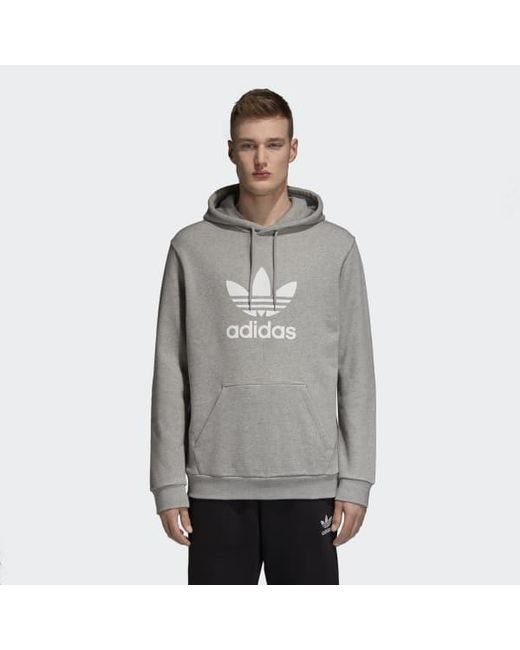 68f1f55c6d0a Lyst - adidas Trefoil Hoodie in Gray for Men - Save 18%