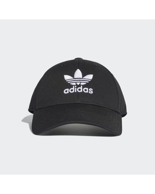705914423b76 Adidas - Black Trefoil Baseball Cap - Lyst ...