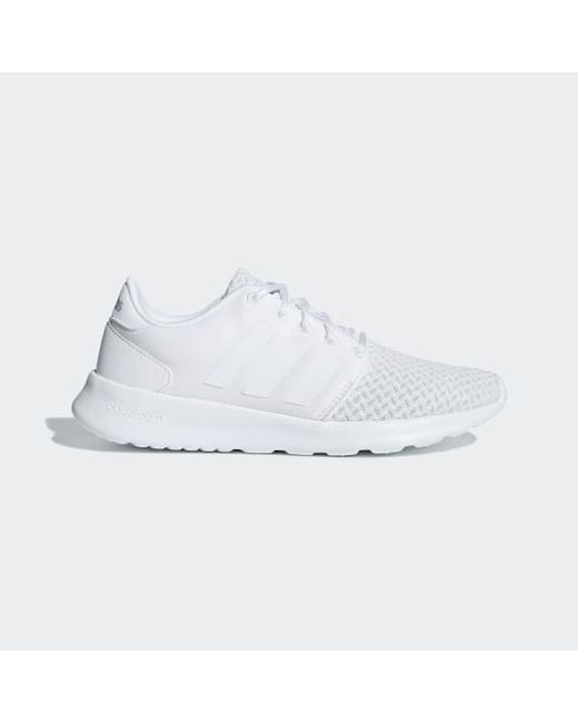 36aa5dc4fa1317 Lyst - adidas Cloudfoam Qt Racer Shoes in White - Save 49%