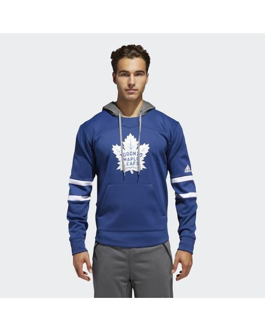 8f765f3f1 Lyst - adidas Maple Leafs Platinum Jersey Hoodie in Blue for Men ...