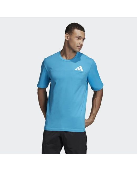 f9515bc7dce Adidas - Blue The Pack Tee for Men - Lyst ...
