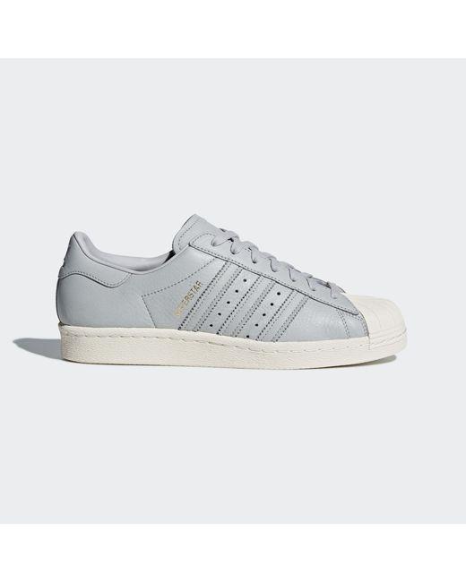 lyst adidas superstar degli anni '80 le scarpe in grigio per gli uomini.