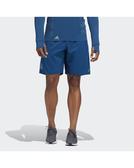 57e9a58ae287f Adidas - Blue Boston Marathon® Supernova Pure Shorts for Men - Lyst ...