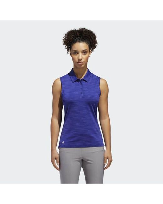 446930cf62e46b Adidas - Purple Ultimate365 Sleeveless Polo Shirt - Lyst ...