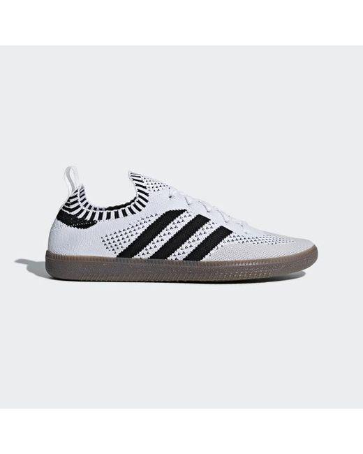 adidas samba white trainers for men