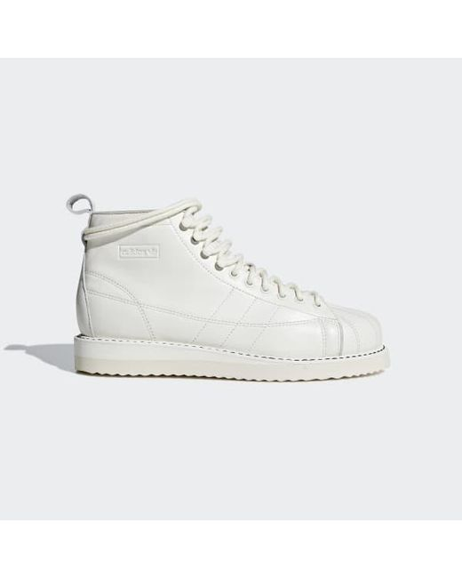 Lyst Adidas Superstar Boots In White For Men