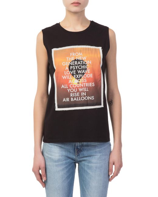 Each x Other - Black Poem Sleveless T-shirt - Lyst
