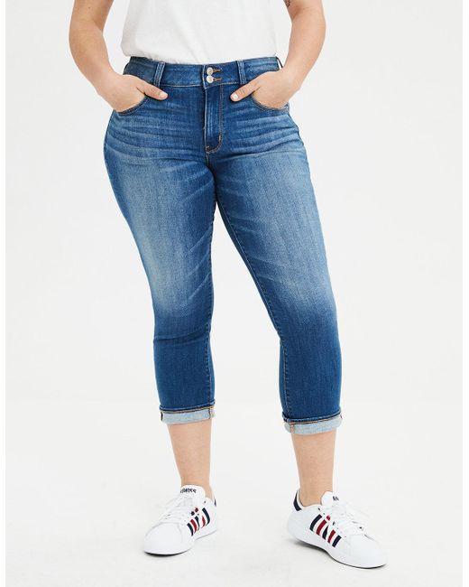 6af6fefae0e49 Lyst - American Eagle Ae Ne(x)t Level Artist Crop® Jean in Blue