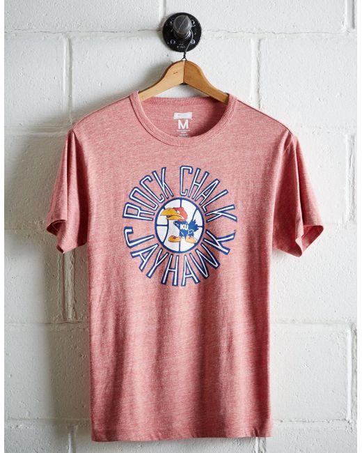Tailgate - Red Men's Kansas Rock Chalk T-shirt for Men - Lyst