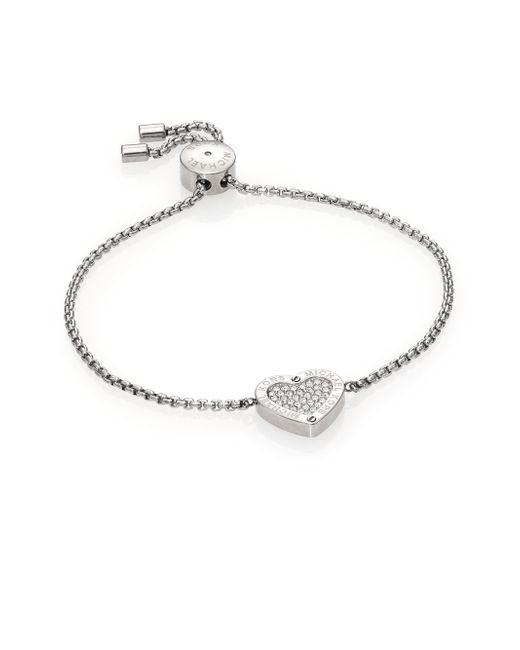 Michael Kors | Metallic Clear Bar Slide Bracelet | Lyst