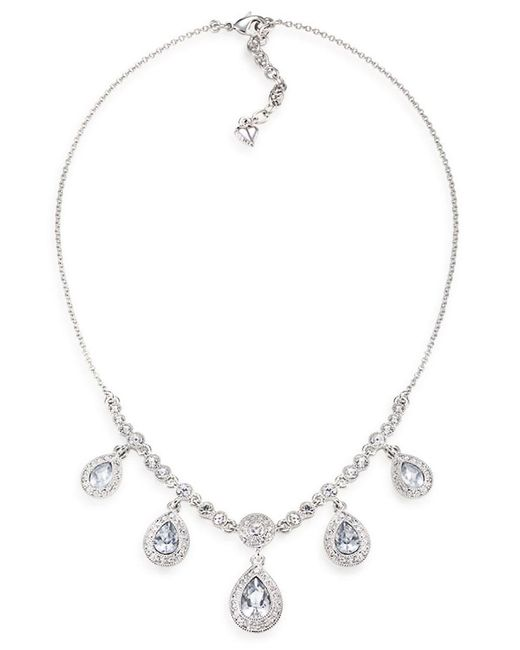 Carolee | Metallic Silver-tone Crystal Lariat Necklace | Lyst