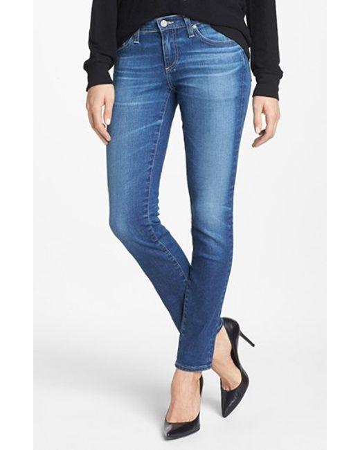 AG Jeans | Blue 'the Stilt' Cigarette Leg Jeans | Lyst