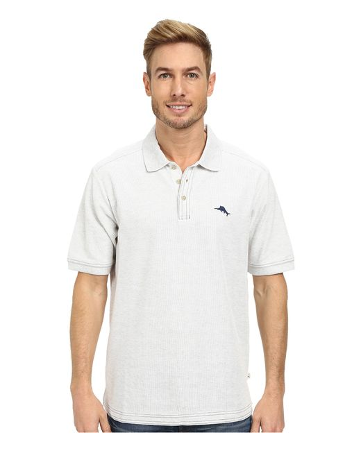 Tommy Bahama The Emfielder Polo Shirt In Gray For Men Lyst