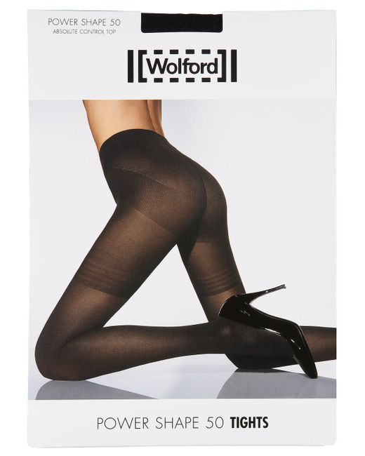 Wolford | Black Power Shape 50 Absolute Control Top Tights | Lyst