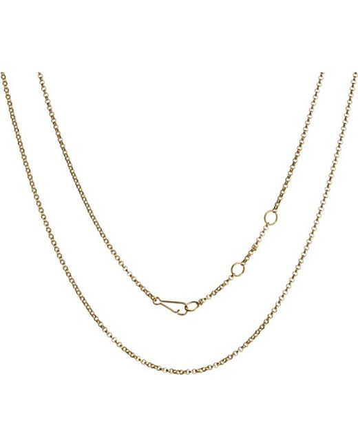 Annoushka | Classic 18ct Yellow-gold Long Belcher Chain Necklace | Lyst
