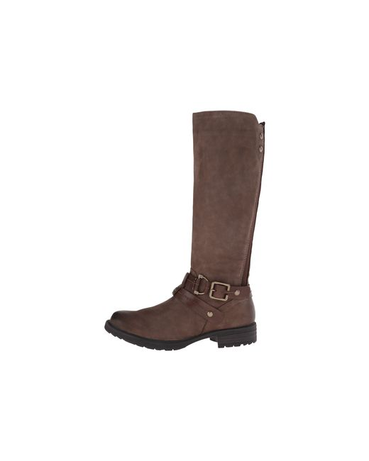 Earth | Brown Sierra Faux-Leather Knee-High Boots | Lyst
