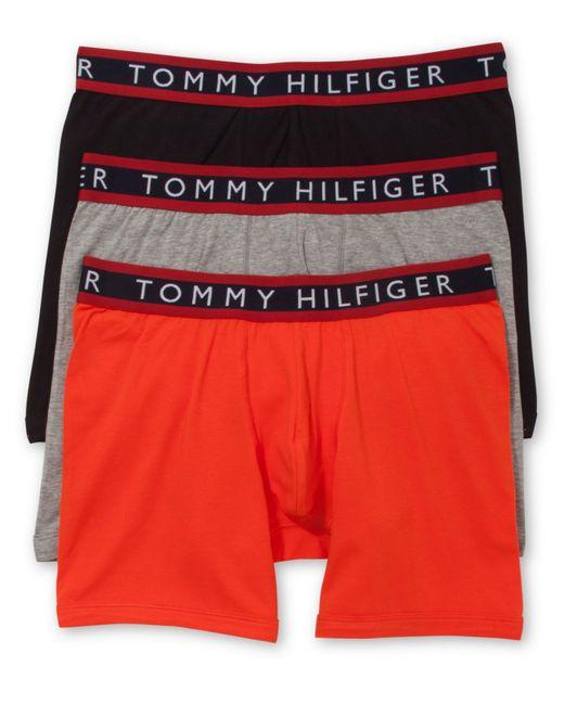 tommy hilfiger men 39 s stretch boxer briefs 3 pack in orange for men. Black Bedroom Furniture Sets. Home Design Ideas