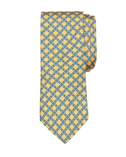 Brooks Brothers | Yellow Diamond Link Print Tie for Men | Lyst