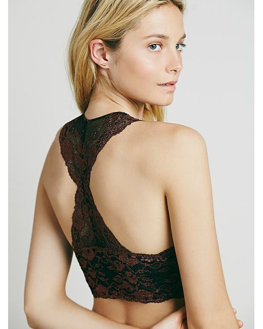 Free People | Red Wild Roses Galloon Racerback | Lyst